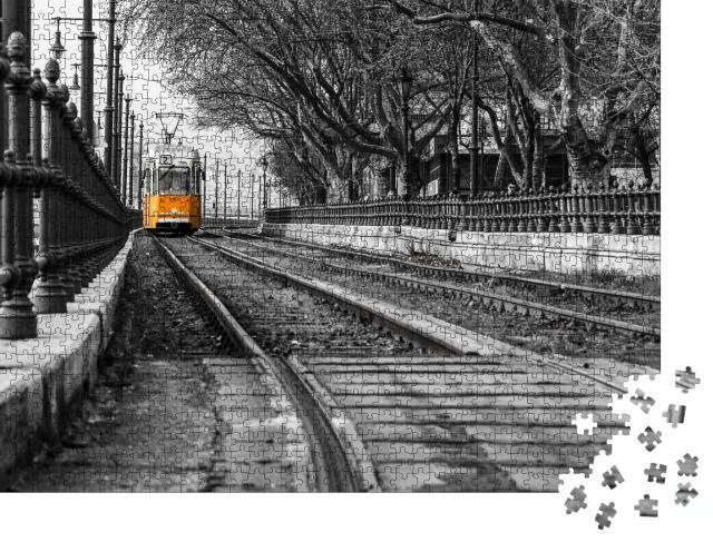 """Puzzle 1000 Teile """"Straßenbahn in Budapest, Ungarn"""""""