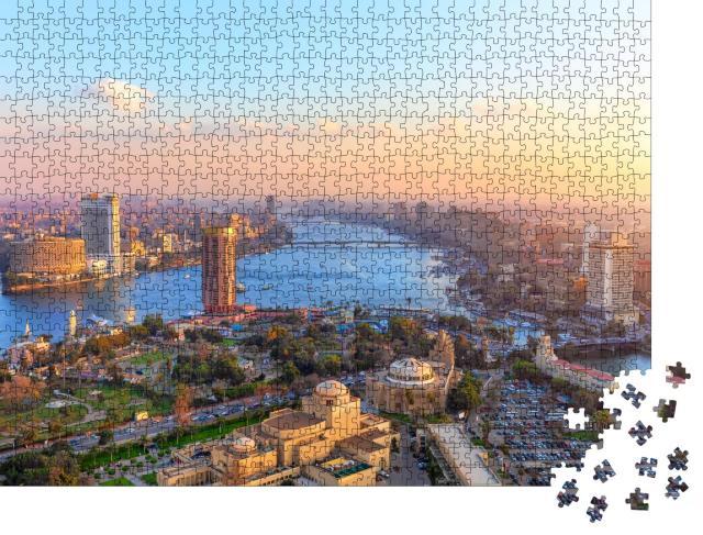 """Puzzle 1000 Teile """"Luftbild von Kairo bei Sonnenuntergang"""""""