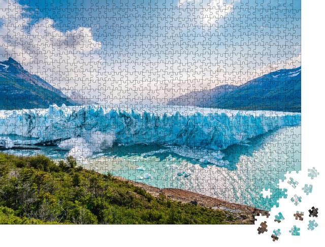 """Puzzle 1000 Teile """"Eisbruch am Perito-Moreno-Gletscher, Argentinien"""""""