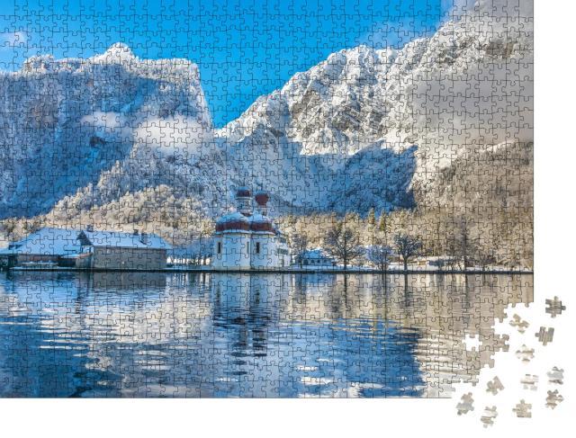 """Puzzle 1000 Teile """"Kirche St. Bartholomäus, Berchtesgadener Land, Bayern, Deutschland"""""""