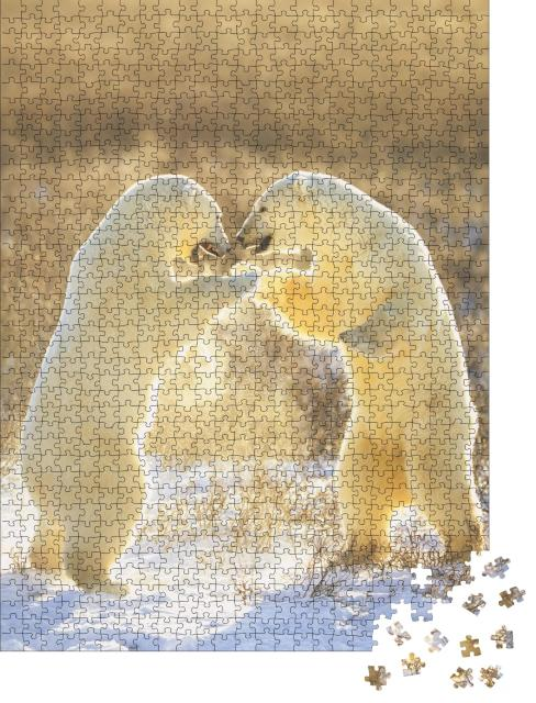 """Puzzle 1000 Teile """"Eisbären aus Kanada, Jungtiere"""""""