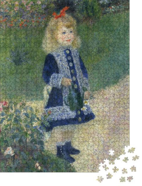 """Puzzle 1000 Teile """"Das Mädchen mit der Gießkanne, Auguste Renoir 1876"""""""
