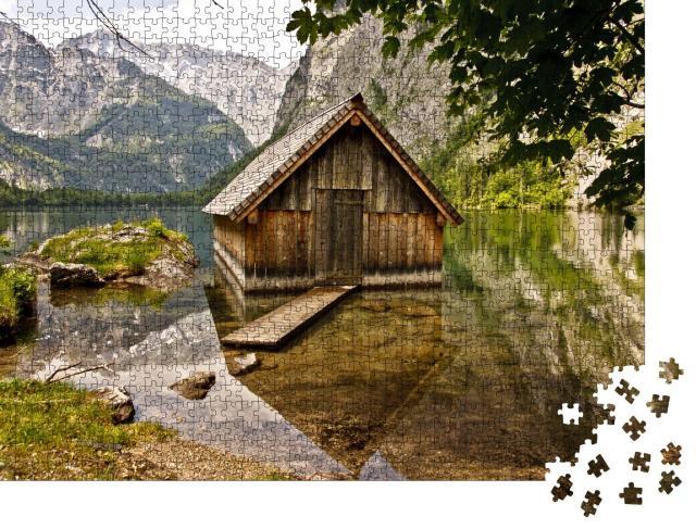 """Puzzle 1000 Teile """"Haus am See, Bayern, Deutschland"""""""