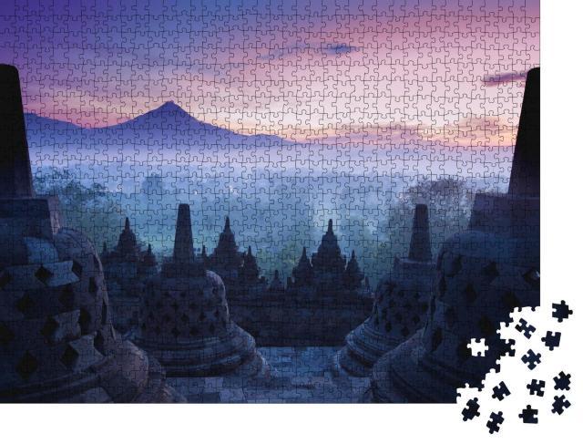 """Puzzle 1000 Teile """"Borobudur-Tempel, Yogyakarta, Java, Indonesien"""""""