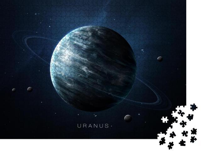 """Puzzle 1000 Teile """"Uranus mit Ring, NASA-Bildmaterial"""""""