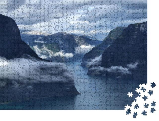 """Puzzle 1000 Teile """"Wilde Landschaften bei Flam und Aurland - Norwegen"""""""