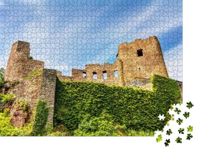 """Puzzle 1000 Teile """"Burgruine in Frauenstein im Erzgebirge, Deutschland"""""""