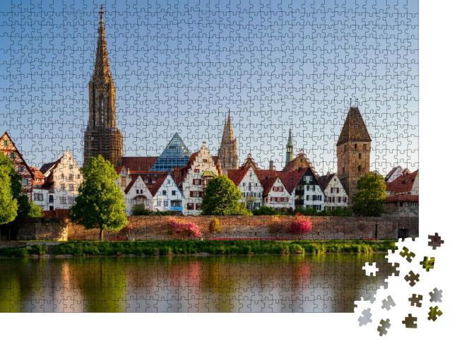 """Puzzle 1000 Teile """"Blick von Neu-Ulm auf Ulm an der Donau"""""""
