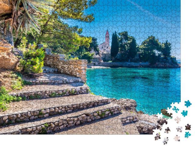 """Puzzle 1000 Teile """"Kloster der Stadt Bol, Insel Brac, Kroatien"""""""