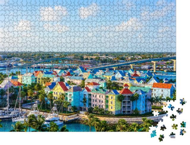 """Puzzle 1000 Teile """"Luftaufnahme von Nassau in HD, USA"""""""
