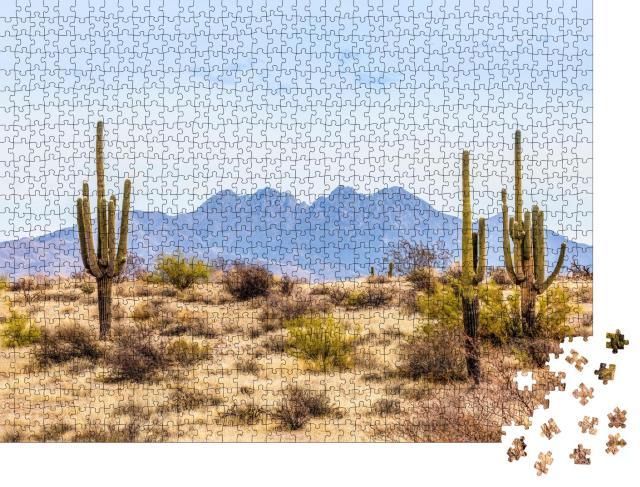 """Puzzle 1000 Teile """"Four Peaks, Wahrzeichen der Mazatzal Mountains in Phoenix, Arizona"""""""