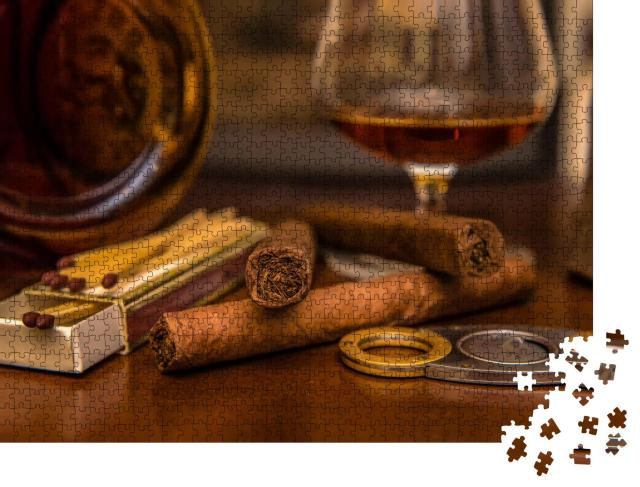"""Puzzle 1000 Teile """"Kubanisches Lebensgefühl - Zigarren und Rum"""""""