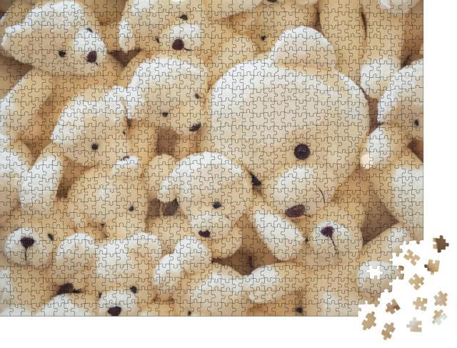 """Puzzle 1000 Teile """"Weiße Teddybären zum Kuscheln"""""""