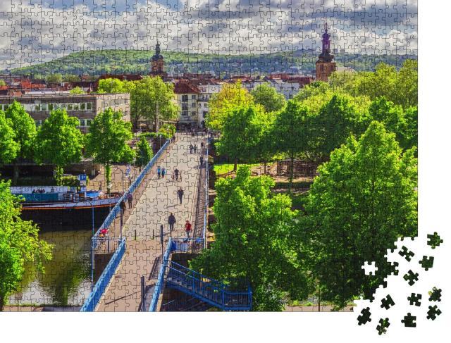 """Puzzle 1000 Teile """"Saarbrücken: alte Brücke und Altstadt, Saarland, Deutschland"""""""