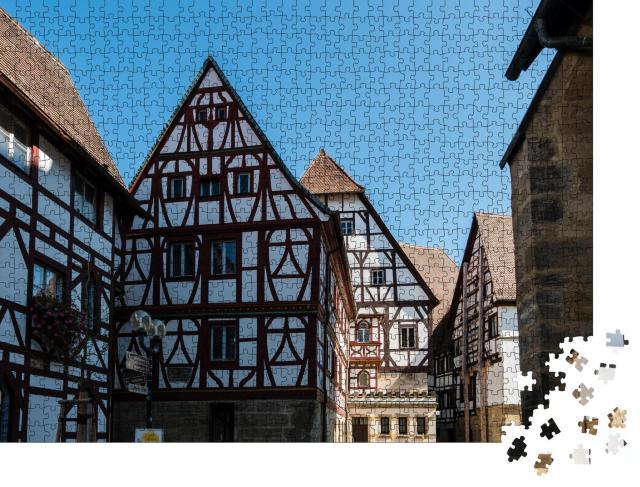 """Puzzle 1000 Teile """"Fachwerkhäuser am Kirschgarten, Rheinland-Pfalz, Deutschland"""""""