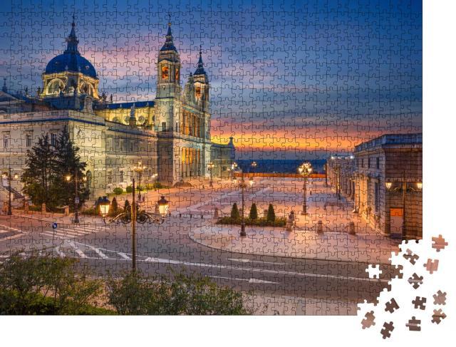 """Puzzle 1000 Teile """"Santa Maria la Real de La Almudena, Madrid, Spanien"""""""