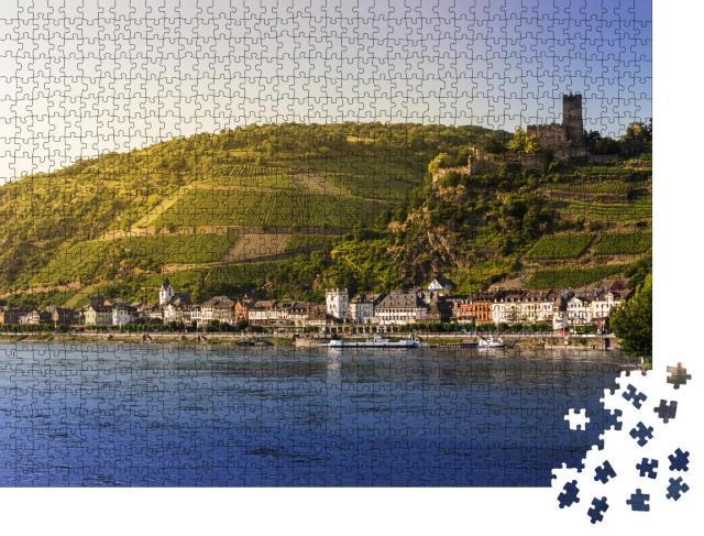 """Puzzle 1000 Teile """"Malerisches Dorf am Ufer des Rheins"""""""