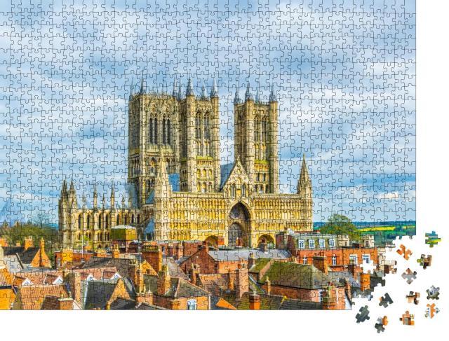 """Puzzle 1000 Teile """"Beeindruckende Kathedrale von Lincoln, England"""""""