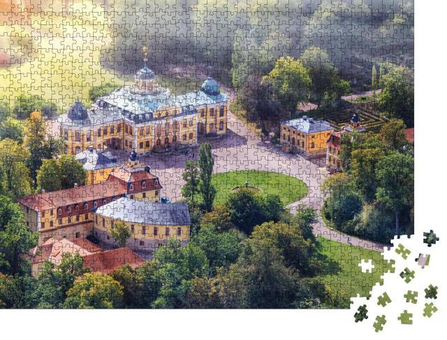 """Puzzle 1000 Teile """"Schloss Belvedere am Stadtrand von Weimar, Deutschland"""""""