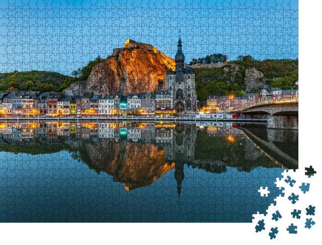 "Puzzle 1000 Teile ""Blick auf die historische Stadt Dinant, Wallonien, Belgien"""