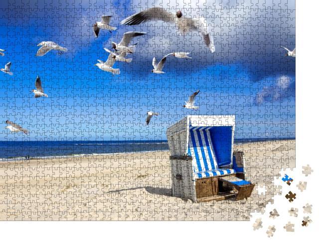 """Puzzle 1000 Teile """"Strand von Westerland, Sylt"""""""