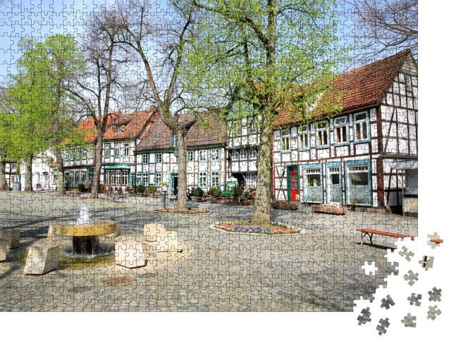 """Puzzle 1000 Teile """"Historischer Marktplatz in Bad Essen, Niedersachsen, Deutschland"""""""