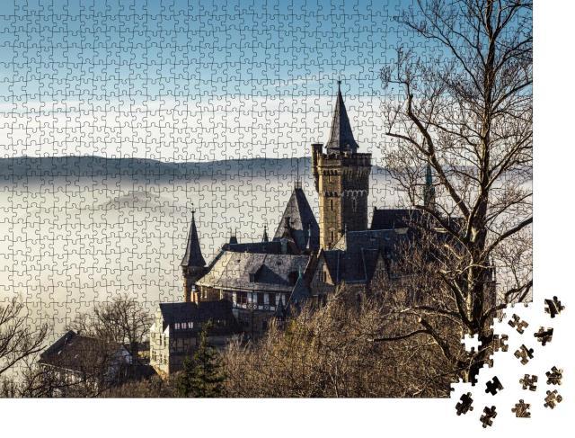 """Puzzle 1000 Teile """"Schloss Wernigerode im Nebel"""""""