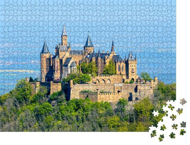 """Puzzle 1000 Teile """"Burg Hohenzollern bei Hechingen in Baden-Württemberg"""""""