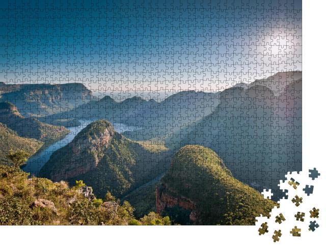 """Puzzle 1000 Teile """"Morgensonne über dem Blyde River Canyon, Mpumulanga, Südafrika"""""""
