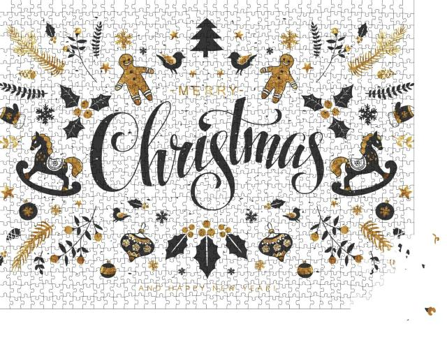 """Puzzle 1000 Teile """"Merry Christmas"""""""