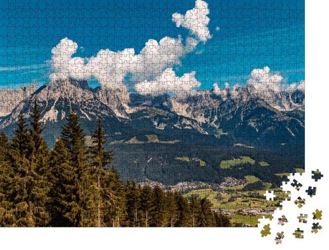"""Puzzle 1000 Teile """"Ellmau am Hartkaisergipfel, Tirol, Österreich"""""""