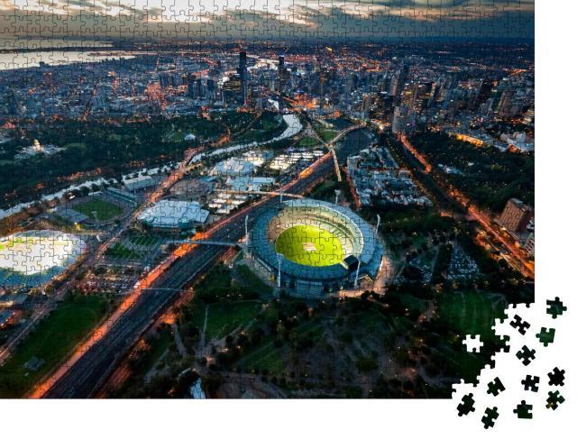 """Puzzle 1000 Teile """"Abendstimmung über Melbourne, Australien"""""""