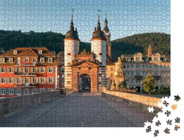 """Puzzle 1000 Teile """"Alte Brücke in Heidelberg, Deutschland"""""""