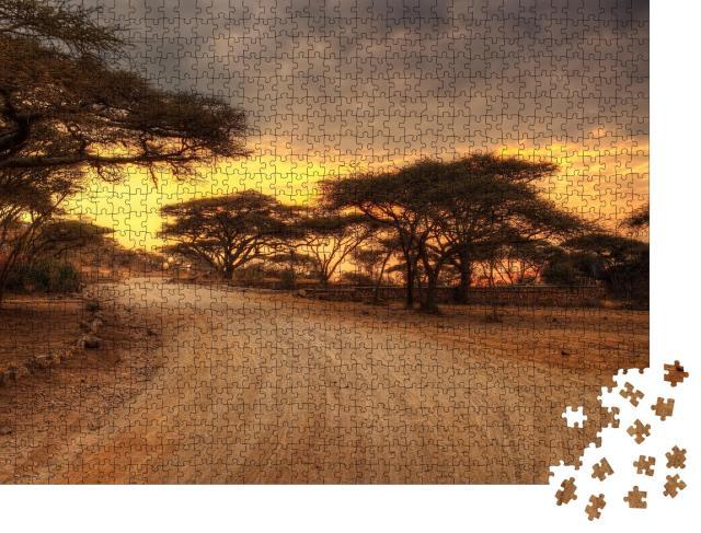 """Puzzle 1000 Teile """"Serengeti Nationalpark mit Wildtieren"""""""