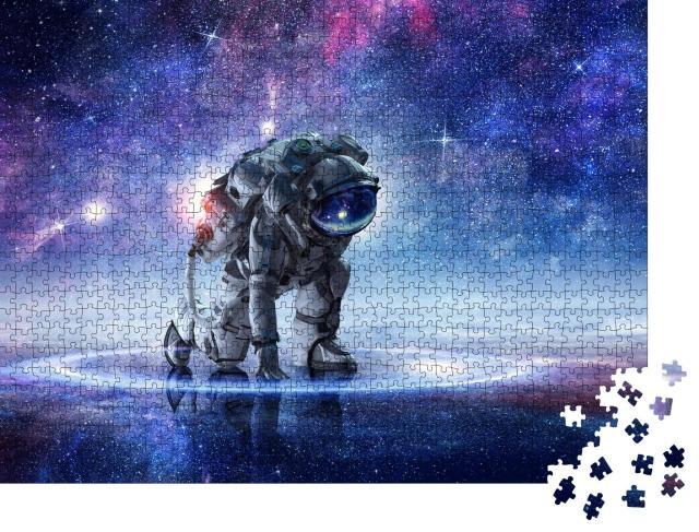 """Puzzle 1000 Teile """"Astronaut beginnt zu laufen"""""""