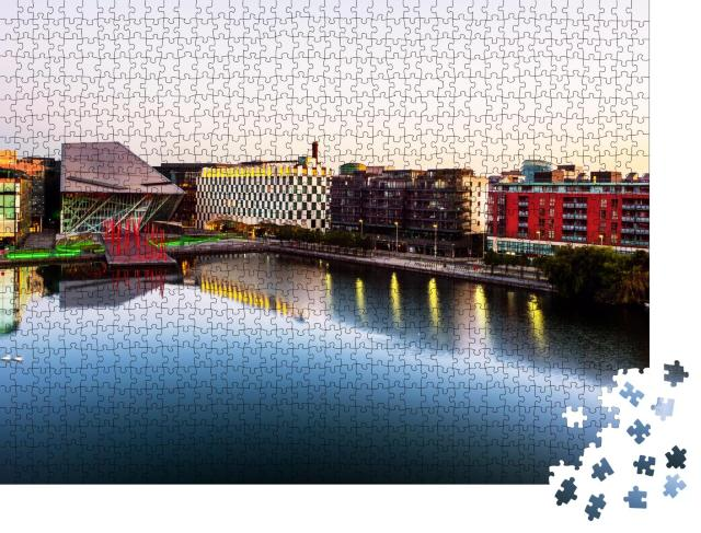 """Puzzle 1000 Teile """"Grand Canal Docks in Dublin, Irland"""""""