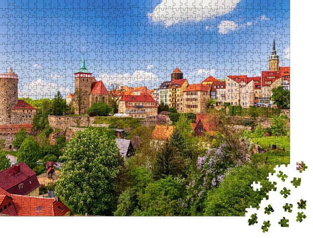 """Puzzle 1000 Teile """"Ansicht der Altstadt von Bautzen in Ostsachsen, Deutschland"""""""