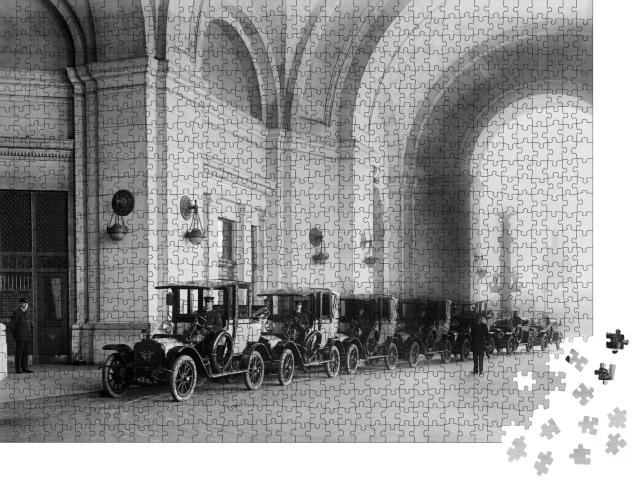 "Puzzle 1000 Teile ""Taxis an der neuen Union Station in Washington D.C., 1914"""