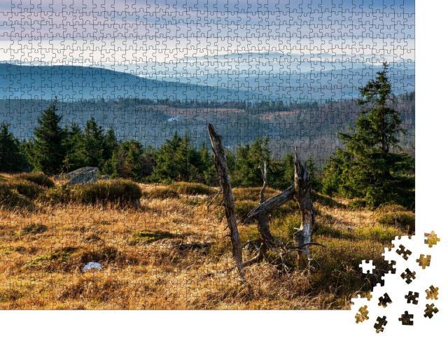 """Puzzle 1000 Teile """"Blick vom Brocken über den Nationalpark Harz, Deutschland"""""""