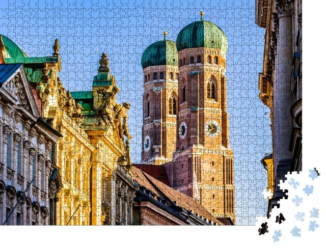 """Puzzle 1000 Teile """"Münchner Dom: Liebfrauenkirche, Bayern, Deutschland"""""""