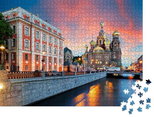 """Puzzle 1000 Teile """"Kirche des Erlösers, Sankt Petersburg, Russland"""""""