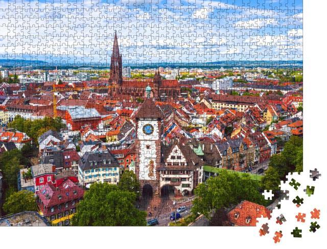 """Puzzle 1000 Teile """"Blick über Freiburg im Breisgau, Deutschland"""""""