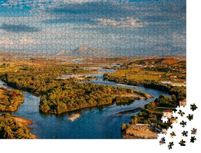 "Puzzle 1000 Teile ""Fluss in Albanien"""
