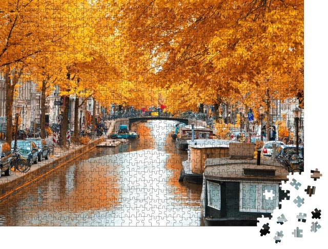 """Puzzle 1000 Teile """"Amsterdam Herbst. schöne Orte in Europa"""""""