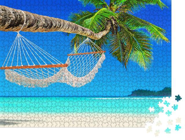 """Puzzle 1000 Teile """"Strandparadies Seychellen, Indischer Ozean"""""""