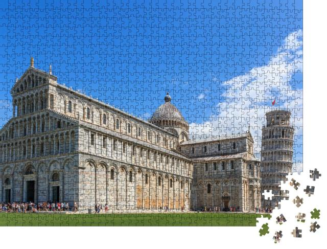 "Puzzle 1000 Teile ""Dom Santa Maria Assunta und schiefer Turm von Pisa, Toskana"""