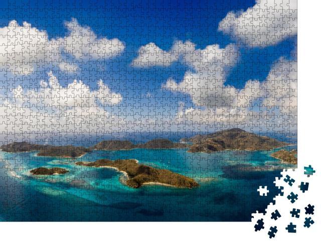 """Puzzle 1000 Teile """"Luftaufnahme der tropischen Britischen Jungferninseln"""""""
