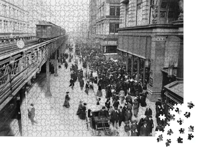 """Puzzle 1000 Teile """"Sixth Avenue in New York City, 1903"""""""