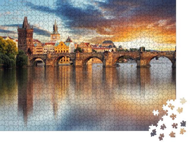 """Puzzle 1000 Teile """"Prag - Karlsbrücke, Tschechische Republik"""""""