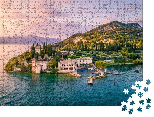 """Puzzle 1000 Teile """"Punta San Vigilio am Gardasee, Italien"""""""
